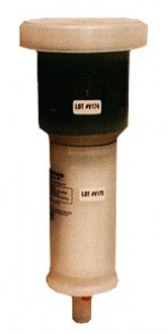 Carbon filter for puncturing aerosol spray cans